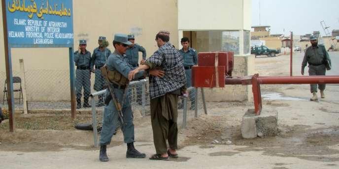 Un policier afghan près de Lashkar Gah, province de Helmand.