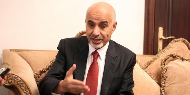 Mohamed Al-Megaryef, président de l'Assemblée nationale libyenne, le 15 septembre à Benghazi.