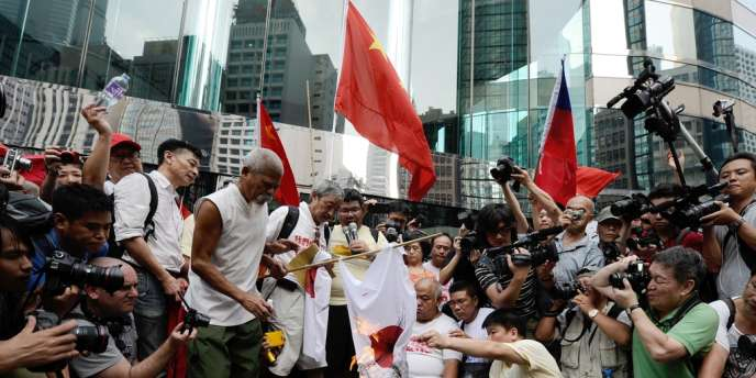 Manifestation anti-japonaise, le 16 septembre à Hongkong.