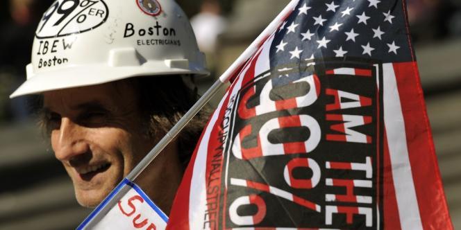 Rassemblement au Washington square park à New York le 15 septembre, pour l'anniversaire du mouvement Occupy Wall Street.