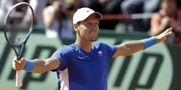 Tomas Berdych, tombeur de l'Argentin Berlocq, qualifie la République tchèque en finale de Coupe Davis?