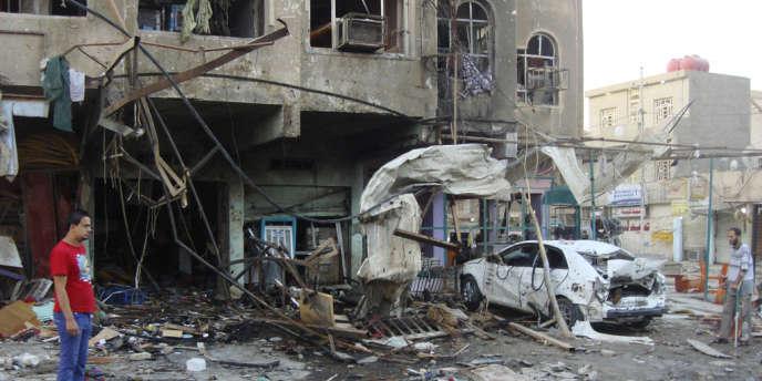 Les attentats sont fréquents dans la capitale irakienne. En 2012, une série d'attaques à la bombe à travers l'Irak avait fait plus d'une centaine de morts – ici dans un quartier de Badgad.
