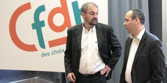 François Chérèque et Laurent Berger, numéro deux de la CFDT, qui doit prendre la succession du secrétaire général du syndicat en novembre.