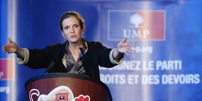 Nathalie Kosciusko-Morizet, le 15 septembre lors d'un meeting à Samoëns.