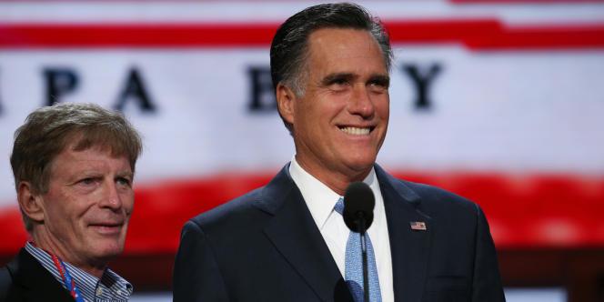 Mitt Romney et son directeur de campagne, Stuart Stevens.