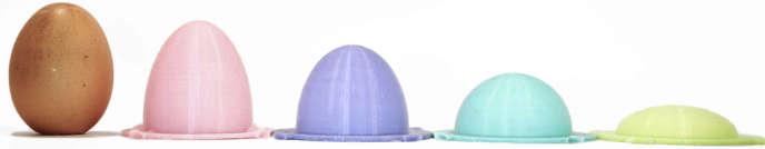 Pour enfoncer une pointe dans le sommet d'une forme ovoïde (à gauche), il faut sept fois plus de force que pour une forme plate (à droite).