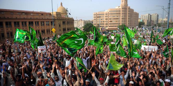 Manifestation anti-américaine au Pakistan, le 19 septembre.