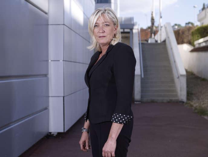 Marine Le Pen, au siège du Front national, à Nanterre, le 19 septembre.