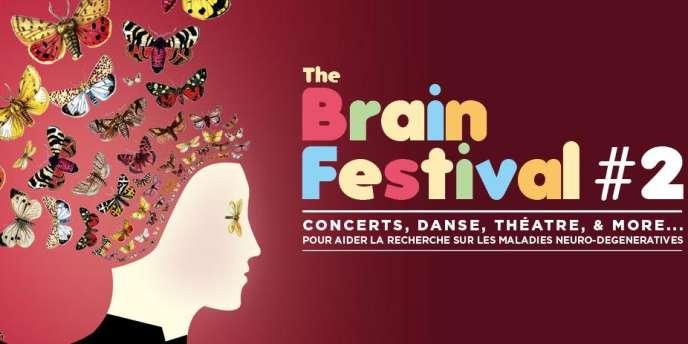 Affiche du Brain Festival (pour Neuroligue) à Paris et dans plusieurs villes, jusqu'au 3 novembre 2012.