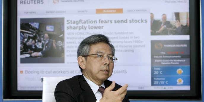 Le PDG d'AU Optronics H.B. Chen, le 22 mai 2008 à Tokyo.