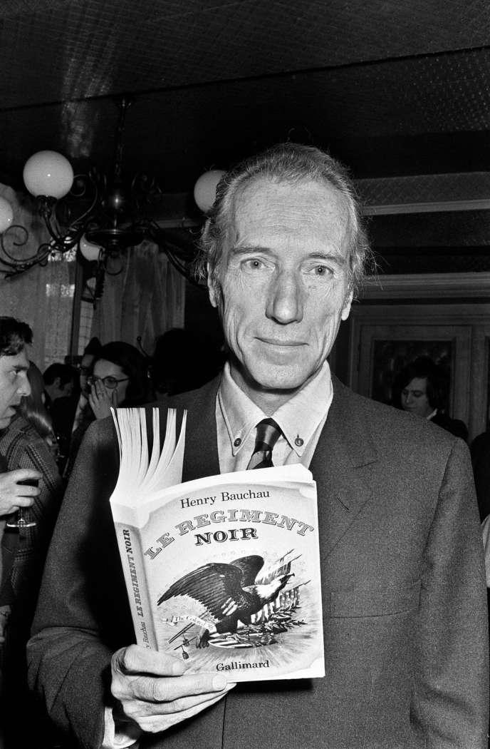L'écrivain Henry Bauchau, en novembre 1972.