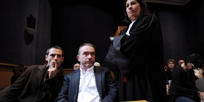 Jean-Philippe Gaillard, au côté de son avocate Caroline Toby, au tribunal correctionnel de Limoges, vendredi 21 septembre.