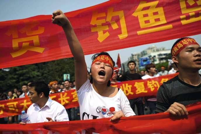Manifestation anti-japonaise en Chine, le 18 septembre 2012.