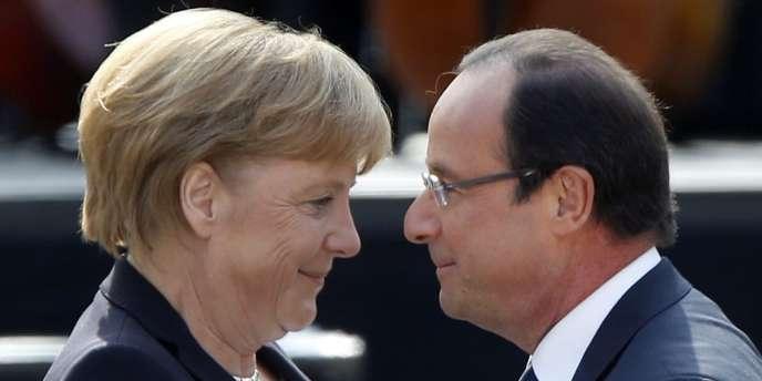 Angela Merkel et François Hollande (château de Ludwigsburg, le 22 septembre 2012).