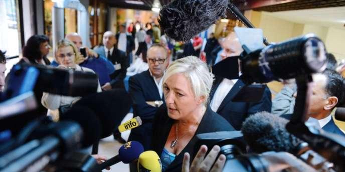 Marine Le Pen à La Baule, pour l'université d'été du Front national, le 22 septembre.