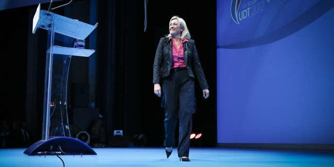 Marine Le Pen à La Baule, le 23 septembre 2012, avant son discours de clôture de l'université d'été du Front national.