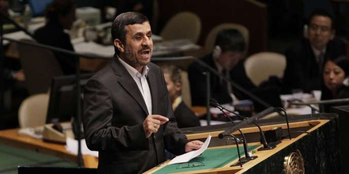 Mahmoud Ahmadinejad, le 24 septembre à l'Assemblée générale de l'ONU.