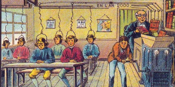 L'école du futur, 1901 ou 1910, Jean-Marc Côté ou Villemard.