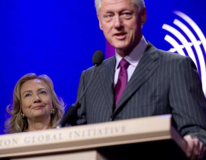 Bill et Hillary Clinton, le 24 septembre 2012, à New York.