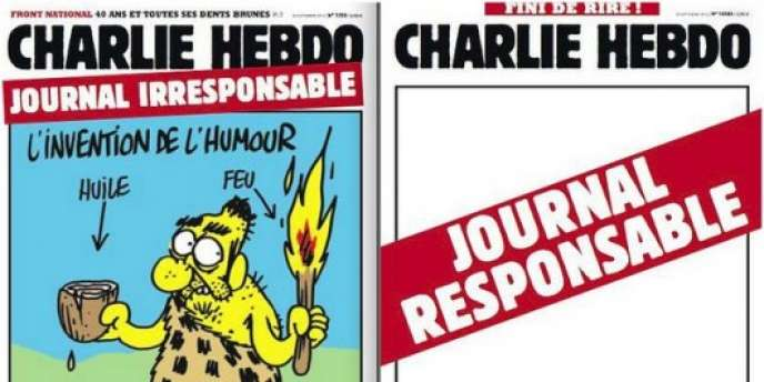 Double couverture de Charlie Hebdo, du mercredi 26 septembre.