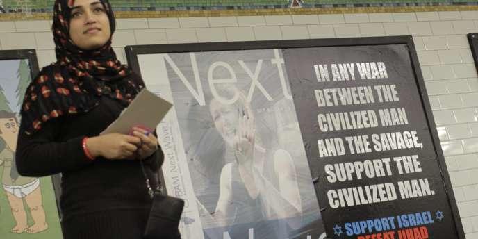 Une publicité antimusulmans dans le métro de New York, le 24 septembre 2012.