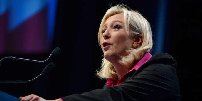 Marine Le Pen le 23 septembre 2012 à la Baule.