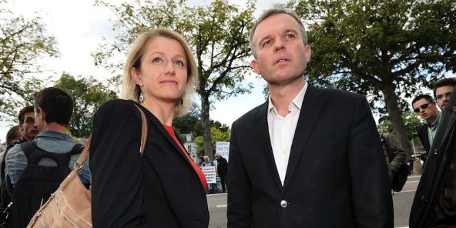 Barbara Pompili et François de Rugy, coprésidents du groupe écologiste de l'Assemblée nationale, enseptembre2012.