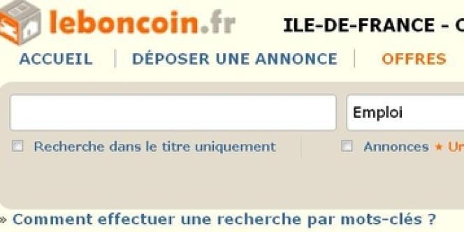 Le site du Boncoin.fr.