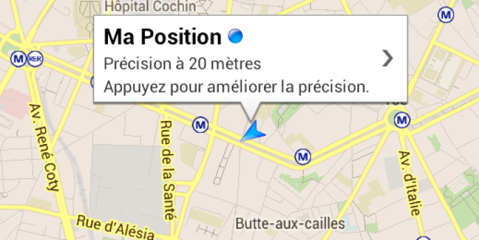 Google Maps, ici sur Android.