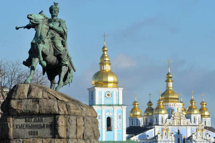 Vue des dômes dorés de Kiev.