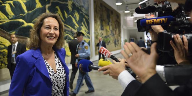 Ségolène Royal arrive à l'ONU pour une rencontre de l'Internationale socialiste, mercredi 26 septembre