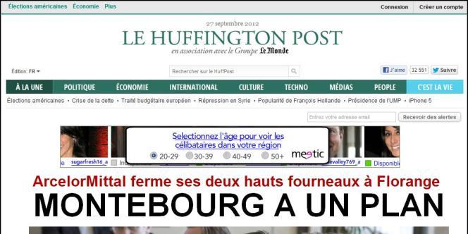 Capture d'écran du Huffington Post français.