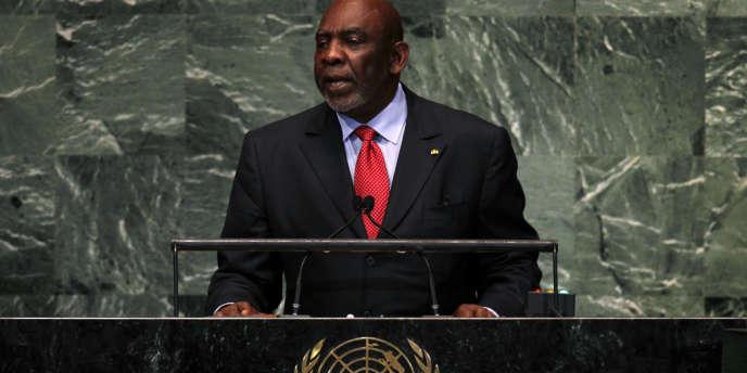 Cheikh Modibo Diarra, le premier ministre malien, à la tribune de l'Assemblée générale de l'ONU, à New York, le 26 septembre 2012.