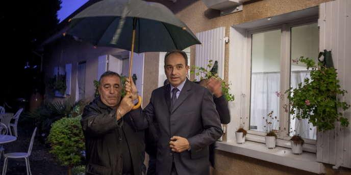 Le secrétaire général de l'UMP et candidat à la tête du parti, Jean-François Copé, à Valence pour une réunion publique, mercredi 26 septembre.