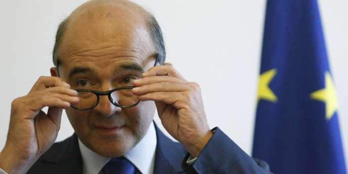Le ministre des finances, Pierre Moscovici, le 17 septembre à Londres.