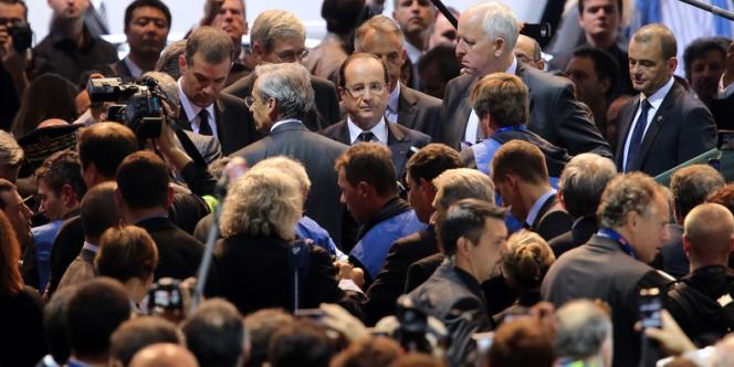 François Hollande, le 29 septembre au salon de l'automobile.