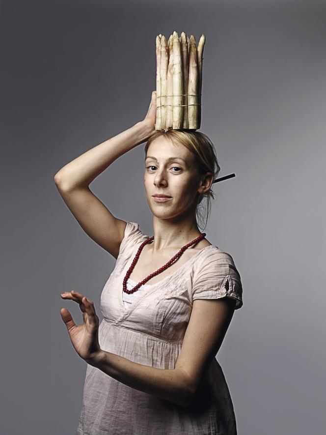 Aurélie Cantin, asperges blanches d'Argenteuil.