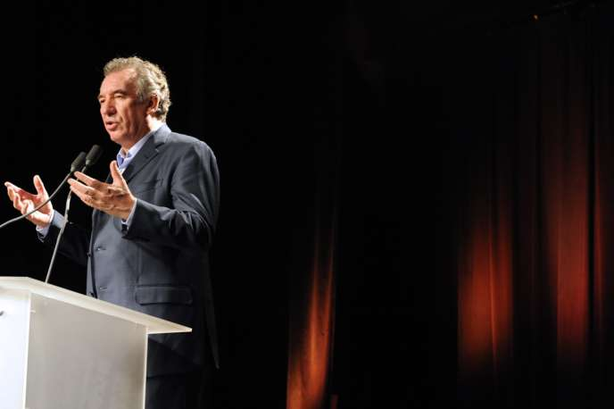 François Bayrou, président du MoDem, lors de l'université de rentrée du mouvement, à Guidel (Morbihan), le 28 septembre.