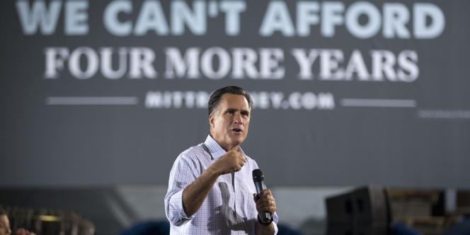 Mitt Romney en campagne le 26 septembre 2012 à Bedford Heights (Ohio).