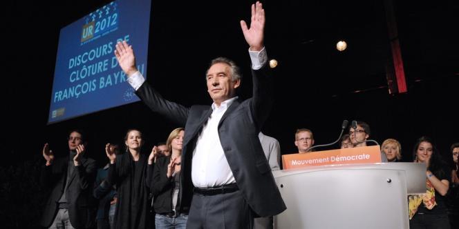 François Bayrou aux universités de rentrée du MoDem, le 30 septembre.