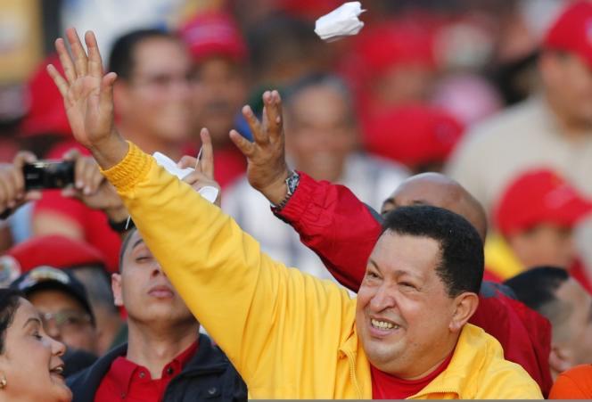 Hugo Chavez, en campagne à Guarenas, dans l'Etat de Miranda, le 29 septembre 2012.