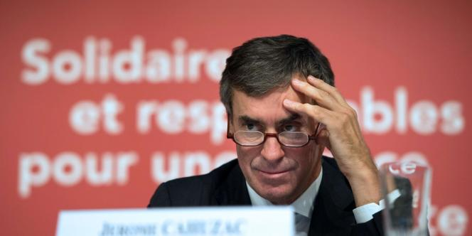 Le ministre délégué au budget, lors de la présentation du projet de loi de finances pour 2013, vendredi 28 septembre à Bercy.