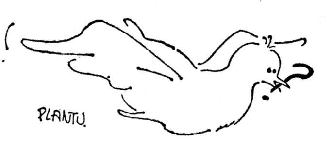 Premier dessin de Plantu publié dans
