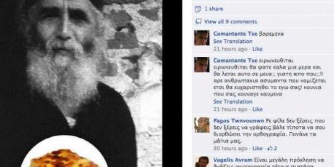 Un homme de 27 ans a été arrêté, vendredi 21 septembre, pour avoir parodié sur une page Facebook un moine du mont Athos, Paisios, mort en 1994, qui fait l'objet d'une vénération pour ses dons de prophétie.