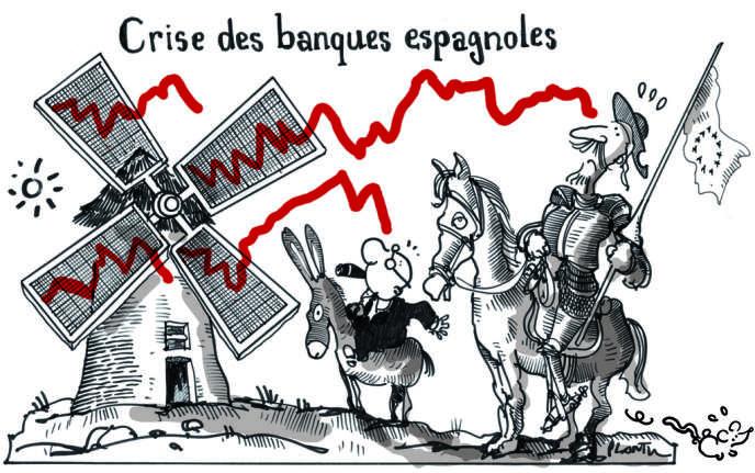 2 juin 2012. La Banque d'Espagne a révélé, le 31 mai, que 97 milliards d'euros de capitaux avaient été retirés du pays au premier trimestre.