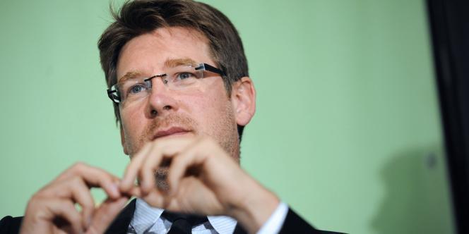 L'ex-ministre français du développement, Pascal Canfin, lors d'un congrès d'Europe Ecologie-Les Verts, le18septembre, à Nantes.