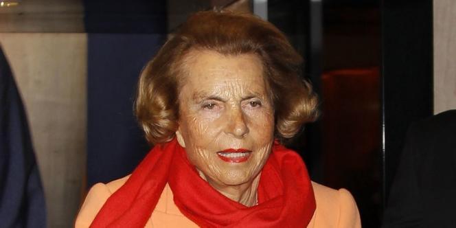 Liliane Bettencourt, le 29 mars à Paris.