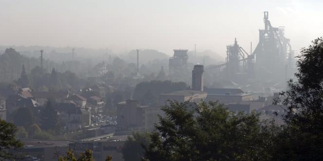 L'immense site d'ArcelorMittal à Florange (Moselle), lundi.