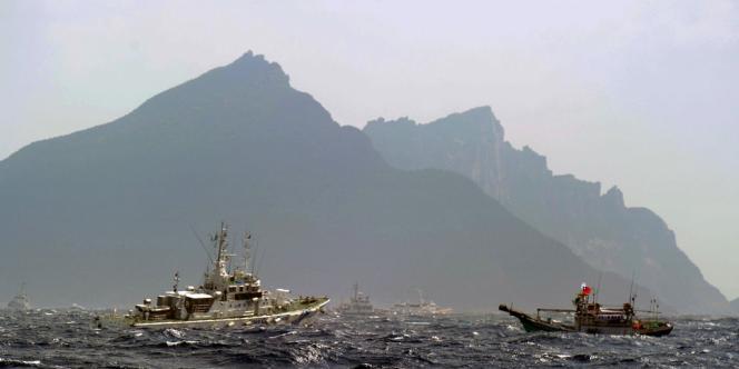 Quatre navires chinois sont entrés dans les eaux territoriales des îles Diaoyu/Senkaku, mardi 2 octobre. Le 25 septembre, des bateaux taïwanais (ici en photo) avaient pénétré dans la zone.