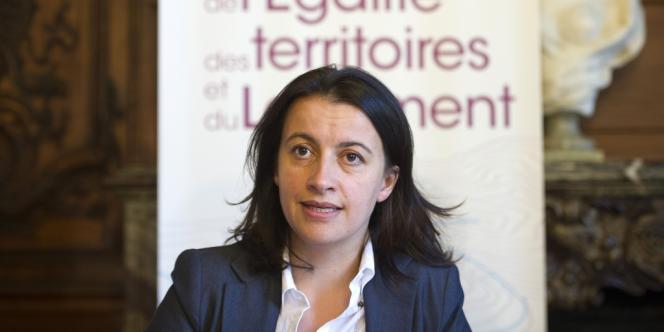 Cécile Duflot lors de la présentation du budget 2013 de son ministère, le 28 septembre, à Paris.